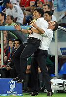 Fotball<br /> Euro 2008<br /> 25.06.2008<br /> Tyskland v Tyrkia<br /> Foto: Witters/Digitalsport<br /> NORWAY ONLY<br /> <br /> Jubel v.l. Bundestrainer Joachim Loew, Co-Trainer Hansi Flick Deutschland<br /> EURO 2008 Halbfinale Deutschland - Tuerkei 3:2