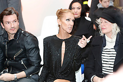 Close friends Celine Dion and Pepe Munoz, here along with Ellen von Unwerth, attend the Alexandre Vauthier Haute Couture Spring Summer 2019 show as part of Paris Fashion Week on January 22, 2019 in Paris, France. Photo by Kendrick/ABACAPRESS.COM