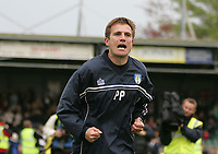 Photo: Lee Earle.<br /> Yeovil Town v Colchester United. Coca Cola League 1. 06/05/2006. Colchester manager Phil Parkinson celebrates at the end of the game.
