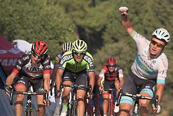 October 12, 2018 - Selcuk, Turkey - Alexey Lutsenko of Kazahkstan and Astana Pro Team wins the fourth stage - the Sportoto Stage 205.5km Marmaris - Selcuk, of the 54th Presidential Cycling Tour of Turkey 2018. .On Friday, October 12, 2018, in Selcuk, Turkey. (Credit Image: © Artur Widak/NurPhoto via ZUMA Press)