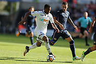 Jordan Ayew of Swansea city in action. Swansea city v Sampdoria , pre-season friendly at the Liberty Stadium in Swansea, South Wales on Saturday August 5th 2017.<br /> pic by Andrew Orchard, Andrew Orchard sports photography.