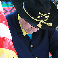Historian Martin Link played the role of Lt. Gen. William T. Sherman, who signed the Treaty of 1868 during the re-enactment of the signing of the Treaty of 1868 Saturday in Fort Defiance, Arizona.