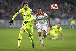 February 19, 2019 - Lyon, França - LYON, LY - 19.02.2019: LYON X BARCELONA - Gerard Piqué of Barcelona during the match between Lyon and Barcelona held at Parc Olympique Lyonnais in Lyon. The match is valid for the octaves of the Champions League 2018/2019. (Credit Image: © Richard Callis/Fotoarena via ZUMA Press)