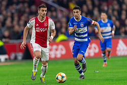 13-03-2019 NED: Ajax - PEC Zwolle, Amsterdam<br /> Ajax has booked an oppressive victory over PEC Zwolle without entertaining the public 2-1 / Dusan Tadic #10 of Ajax, Younes Namli #21 of PEC Zwolle