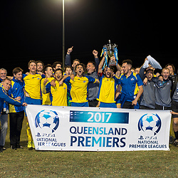 20th August 2017 - NPLQLD Senior Men RD22: Olympic FC v Brisbane Strikers