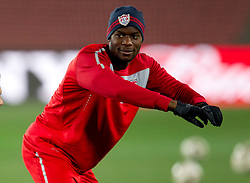 Maurice Edu during training session of USA National team before FIFA World Cup 2010 soccer match against Slovenia at  Ellis Park Stadium on June 17, 2010 in Johannesburg, South Africa.  (Photo by Vid Ponikvar / Sportida)