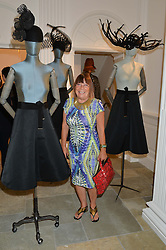 HILARY ALEXANDER at the launch of the new Marina Rinaldi flagship store at 5 Albemarle Street, London on 3rd July 2014.