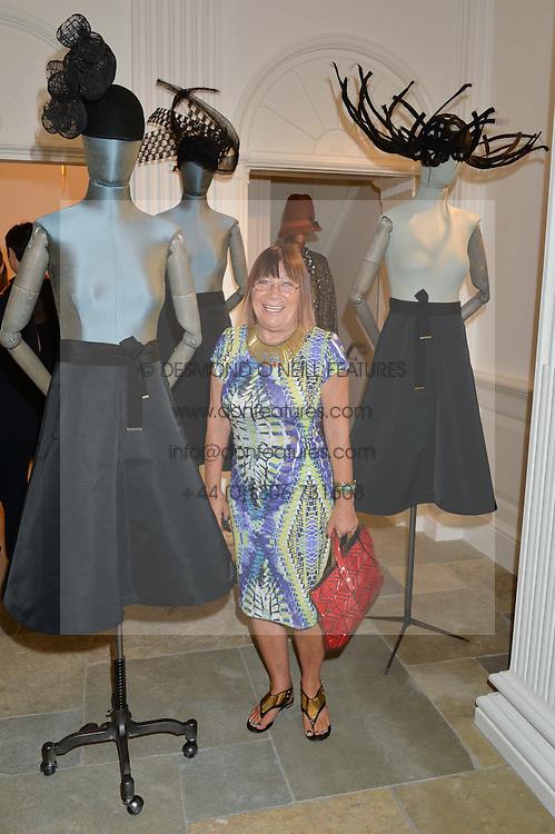 HILARY ALEXANDER at the launch of the new Marina Rinaldi flagship store at 5 Albemarle Street, London on 3rd July 2014.