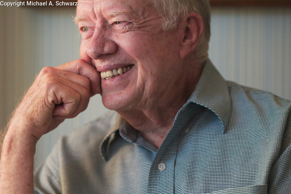 Jimmy Carter at his home in Plains, GA