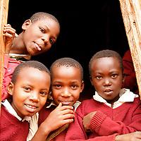 Africa, Tanzania, Karatu. Tloma Primary School Children in Karatu, Tanzania.