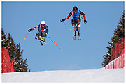 Team GB's Scott Johns during men's ski cross at the Lausanne 2020 Youth Olympic Games at the Villars Winter Park, Switzerland. January 2020