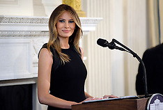 First Lady Melania Trump hosts a lunch event for International Women's Day 8 Mar 2017