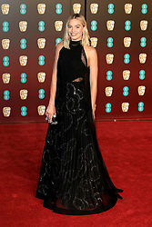 attend the EE British Academy Film Awards at the Royal Albert Hall in London, UK. 18 Feb 2018 Pictured: Margot Robbie. Photo credit: Fred duval / MEGA TheMegaAgency.com +1 888 505 6342