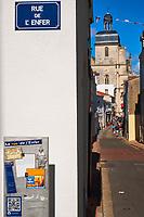 France, Vendée (85), Les Sables-d'Olonne, rue de l'Enfer // France, Vendée, Les Sables-d'Olonne, Enfer (Hell) street