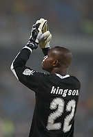 Photo: Steve Bond/Richard Lane Photography.<br /> Ghana v Morocco. Africa Cup of Nations. 28/01/2008. Richard Kingson thanks the crowd
