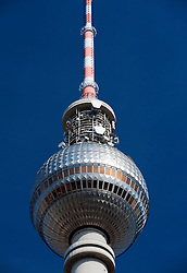 Television Tower at Alexanderplatz in Mitte Berlin