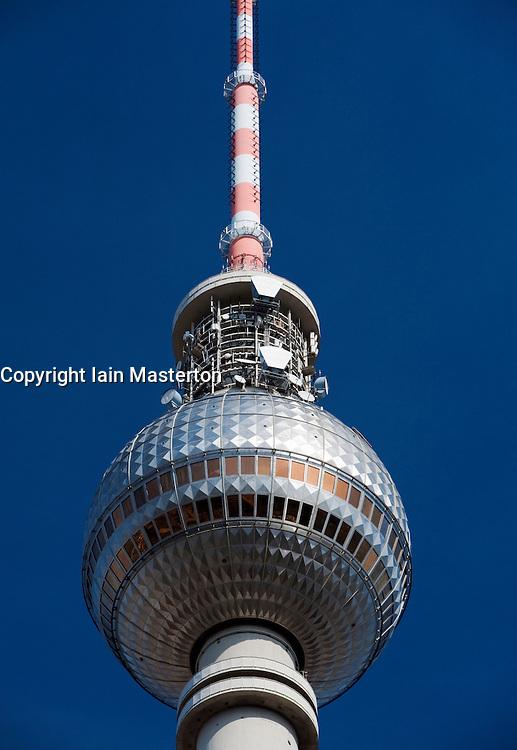 Television Tower at Alexanderplatz in Mitte Berlin