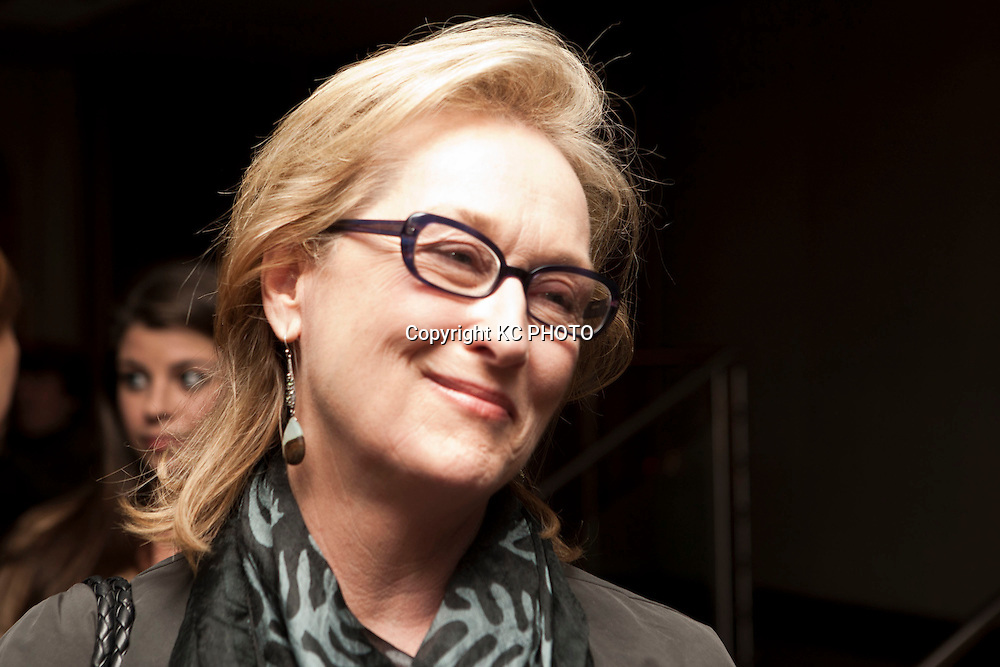 """Actress Meryl Streep attends a reception at Zola restaurant before a screening of her upcoming movie """"The Iron Lady,"""" on November 29, 2011 in Washington DC. Photo by Graeme Jennings/KC PHOTO"""