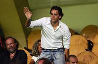 Firenze 19/08/06<br /> Coppa Italia Fiorentina-Giarre 3-0<br /> Luca Toni presente in tribuna ad assistere alla gara<br /> Foto Luca Pagliaricci Inside