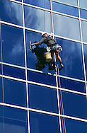 Office window cleaner.<br /> <br /> Larger JPEG + TIFF images available by contacting use through our contact page at : www.effectiveworkingimage.com