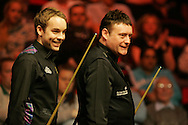 Ali Carter and Jimmy White. Welsh Open Snooker at the Newport Centre, Feb 2009