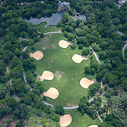 Aerial footage shows a Central Park that looks virtually empty with closed businesses and limited traffic due to the Coronavirus (Covid-19) outbreak along with the continuing protests due to the police killing of George Floyd on Monday, June 1, 2020 in New York City.  Nonessential businesses have been closed and large gatherings have been banned across the state since March 22 under an emergency order issued by Governor Cuomo and an 11 p.m. curfew was ordered by NY Mayor Bill de Blasio amid the Floyd protests. (Alex Menendez via AP)