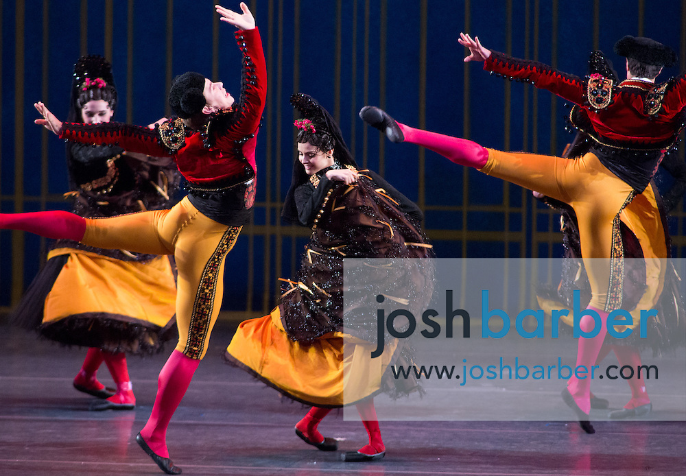 """Brittany DeGrofft, Patrick Ogle during American Ballet Theatre's performance of """"The Nutcracker"""" at Segerstrom Center for the Arts on Thursday, December 10, 2015 in Costa Mesa, California. (Photo/Josh Barber)"""