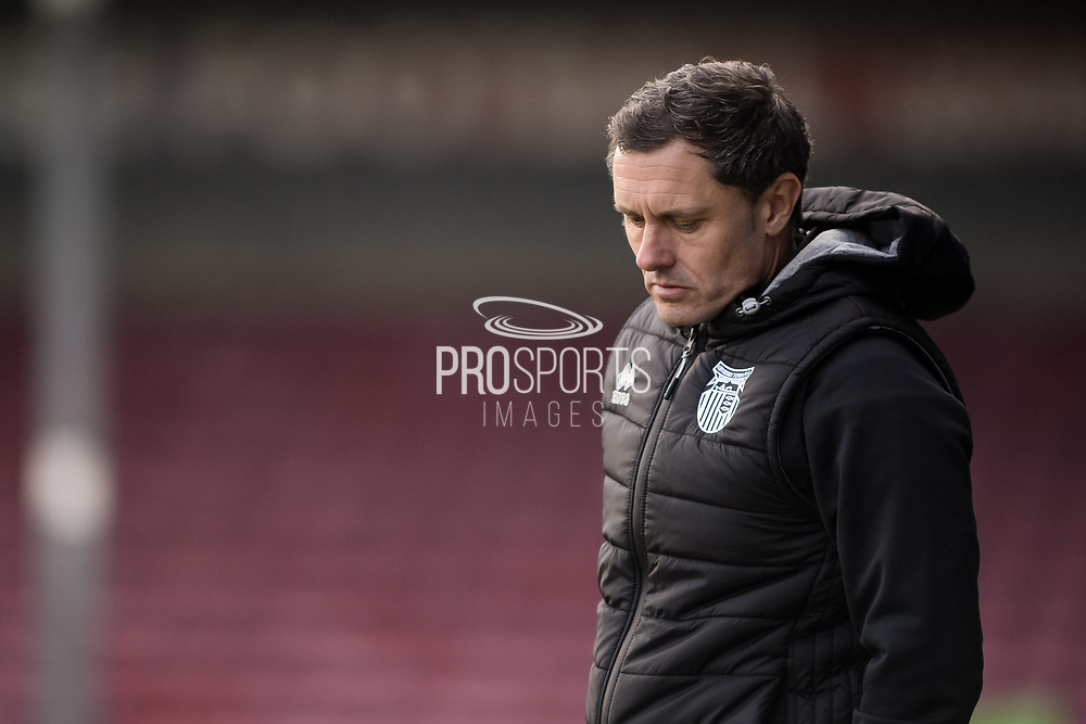 Grimsby Town manager Paul Hurst half body portrait during the EFL Sky Bet League 2 match between Scunthorpe United and Grimsby Town FC at the Sands Venue Stadium, Scunthorpe, England on 23 January 2021.