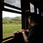Kuranda Tour in Cairns surroundings. Kuranda is a village in the rainforest. The Kuranda Scenic Railway, old train in the rainforest, from Cairns to Kuranda.