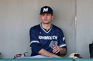 CARY, NC - FEBRUARY 23: Monmouth's Kyle Ajjan. The Monmouth University Hawks played the Saint John's University Red Storm on February 23, 2018 on Field 2 at the USA Baseball National Training Complex in Cary, NC in a Division I College Baseball game. St John's won the game 3-0.
