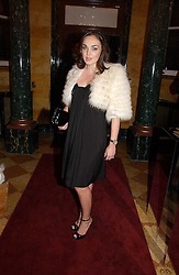 TAMARA ECCLESTONE at a party to launch the Ermenegildo Zegna Heritage Collection fo men at The Duchess Palace, Mansfield Street, London on 30th November 2006.<br />