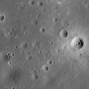 Mare surface in Sinus Aestuum near a lunar exploration site proposed in the late 1950s.