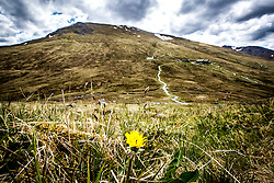 Heading from Sgurr Finnisg-aig, on the slopes of Aonach Mor, after using the Nevis Range mountain gondola, which transports visitors effortlessly from 300ft up to 2150ft on the north face of Aonach Mor, the eighth highest mountain in Britain.