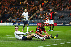 Will Keane of Preston North End rues a missed chance - Mandatory byline: Matt McNulty/JMP - 07966386802 - 22/09/2015 - FOOTBALL - Deepdale Stadium -Preston,England - Preston North End v Bournemouth - Capital One Cup - Third Round