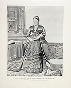 """Mrs. Julia Dent Grant from The American Civil War book and Grant album : """"art immortelles"""" : a portfolio of half-tone reproductions from rare and costly photographs designed to perpetuate the memory of General Ulysses S. Grant, depicting scenes and incidents in connection with the Civil War Published  in Boston and New York by W. H. Allen in 1894"""