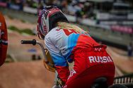 #41 (SUVOROVA Natalia) RUS at the 2016 UCI BMX World Championships in Medellin, Colombia.