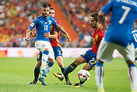 Spain's Daniel Carvajal and Fernando Alarcon 'Isco' and Italy's Lorenzo Insigne during match between Spain and Italy to clasification to World Cup 2018 at Santiago Bernabeu Stadium in Madrid, Spain September 02, 2017. (ALTERPHOTOS/Borja B.Hojas)
