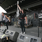 The band Fozzy during the Rockstar Energy Drink Festival at the 1-800-Ask-Gary amphitheater in Tampa, Florida on Thursday, September 13, 2012. (AP Photo/Alex Menendez)