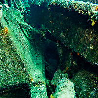 Buckled Hull Plating, Oro Verde, Shipwreck, Grand Cayman