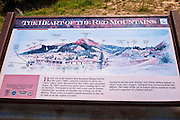 Interpretive sign on the San Juan Skyway (Highway 550), Uncompahgre National Forest, Colorado