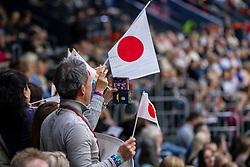 Japaneese fans<br /> LONGINES FEI World Cup™ Finals Gothenburg 2019<br /> © Dirk Caremans<br /> 04/04/2019