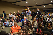 Purchase, NY – 31 October 2014. The team from Woodlands High School stands after learning they came in second in the competition. The Business Skills Olympics was founded by the African American Men of Westchester, is sponsored and facilitated by Morgan Stanley, and is open to high school teams in Westchester County.