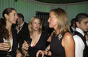 Miranda Brooks, Daisy Garnett and India Hicks. Launch dinner for Island Beauty by India Hicks hosted by Charles Finch and Harvey Nichols Fifth Floor Restaurant. London. .  14  November 2005 . ONE TIME USE ONLY - DO NOT ARCHIVE © Copyright Photograph by Dafydd Jones 66 Stockwell Park Rd. London SW9 0DA Tel 020 7733 0108 www.dafjones.com