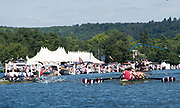 Henley-on-Thames. United Kingdom.  2017 Henley Royal Regatta, Henley Reach, River Thames. <br /> Oxford Brookes University and Taurus BC. wing the Ladies Challenge Plate. celebrate winning the Temple Challenge Cup.<br /> <br /> 13:03:17  Sunday  02/07/2017<br /> <br /> [Mandatory Credit. Intersport Images}.
