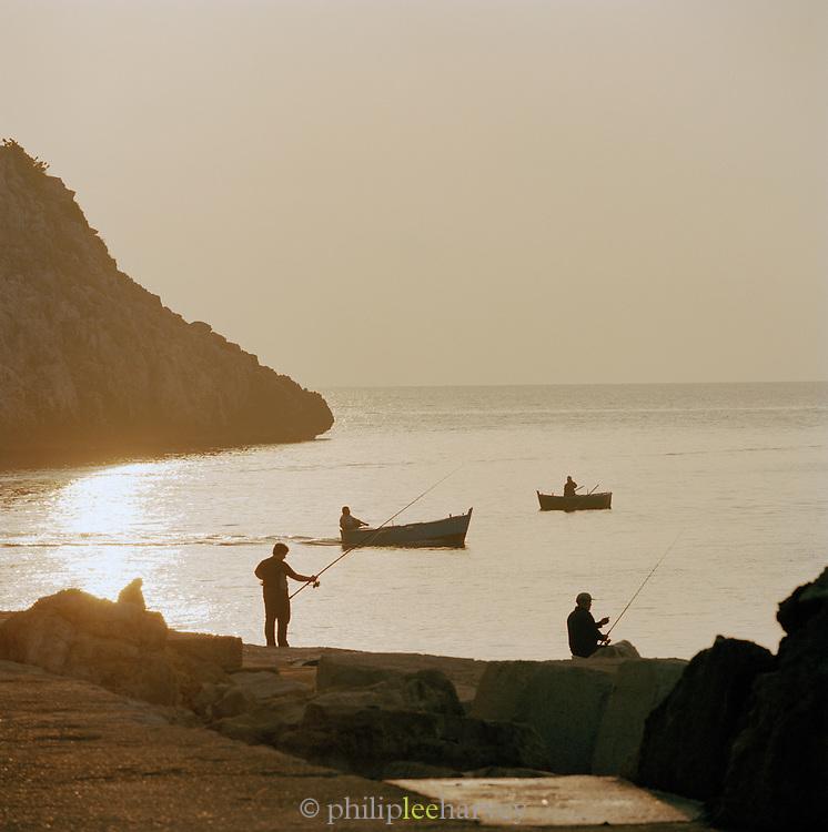 Fisherman in Castro, Puglia, Italy