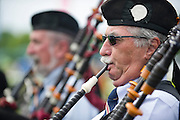 Sights from the 2013 Queens Cup Steeplechase - April 27, 2013: Bagpiper during opening ceremonies.