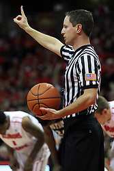 08 December 2012:  Referee Bryan Anslinger during an NCAA mens basketball game between the Western Michigan Broncos and the Illinois State Redbirds (Missouri Valley Conference) in Redbird Arena, Normal IL