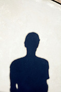 upper body shadow of a man