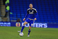 Matthew Connolly of Cardiff city in action. Skybet football league championship match, Cardiff city v Leeds Utd at the Cardiff city stadium in Cardiff, South Wales on Tuesday 8th March 2016.<br /> pic by Andrew Orchard, Andrew Orchard sports photography.