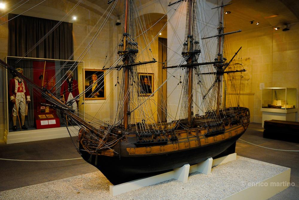 Vittoriosa, Malta Maritime Museum. Housed in the Old Naval bakery in Vittoriosa, it drafts Malta's maritime history. The museum  shows Malta's maritime history from prehistory to the present day.